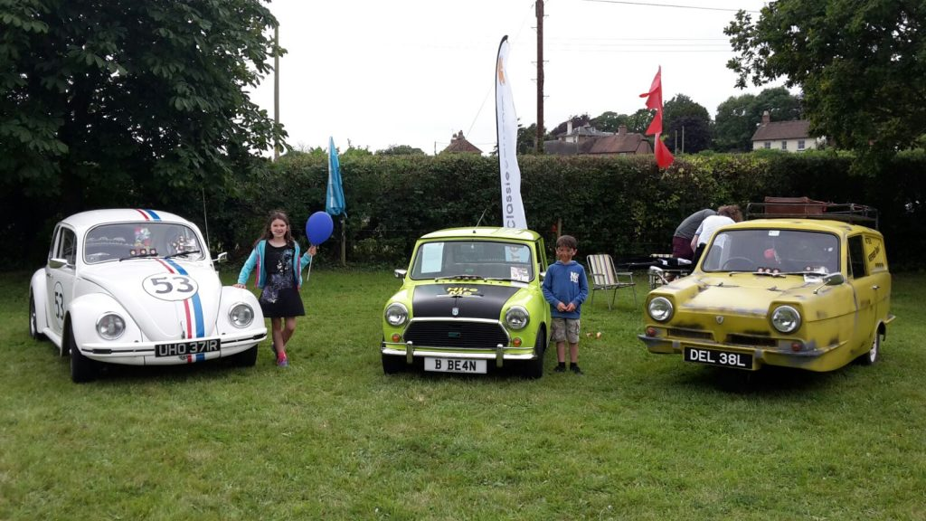 Herbie, Mr Bean & Del Boy at Witchampton Fete